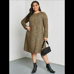 NWT Plus Dalmatian Print Tunic Dress
